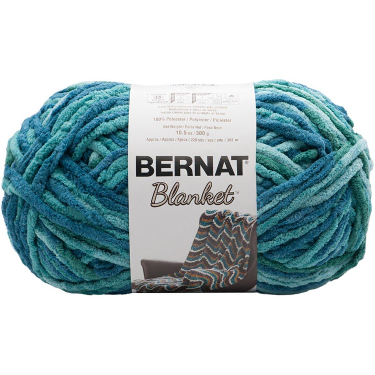Bernat 16111010809 Machine Washable Ball of Yarn Tidepool Spinrite