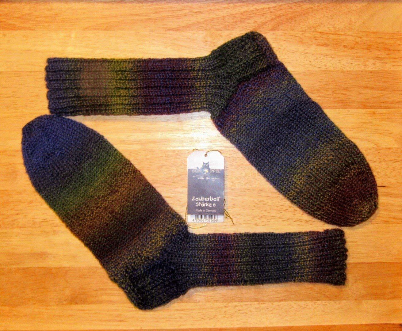 Tricoté à la main/chaussettes en laine/Schoppel -'Meilenstein' / Gr. 36-37/38-39/40-41/42-43/44 / 6 ply/Femme / Homme /