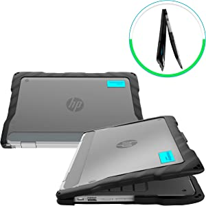 GumDrop DropTech Case Designed for HP Chromebook x360 11 G2 EE Laptop for Students, Teachers, Kids - Black, Rugged, Shock Absorbing, Extreme Drop Protection