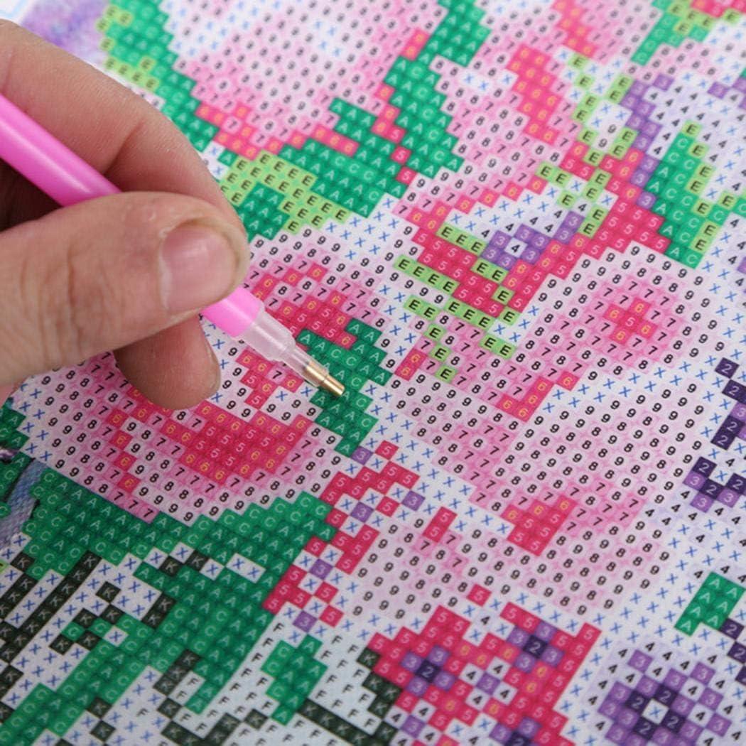 Yealsha DIY Diamond Painting Kit Colorful Deer Cross Stitch Arts Craft Home Decor Cross-Stitch