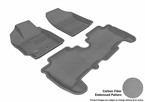 L1SC00001501 Gray 3D MAXpider Complete Set Custom Fit All-Weather Floor Mat for Select Scion XD Models Kagu Rubber