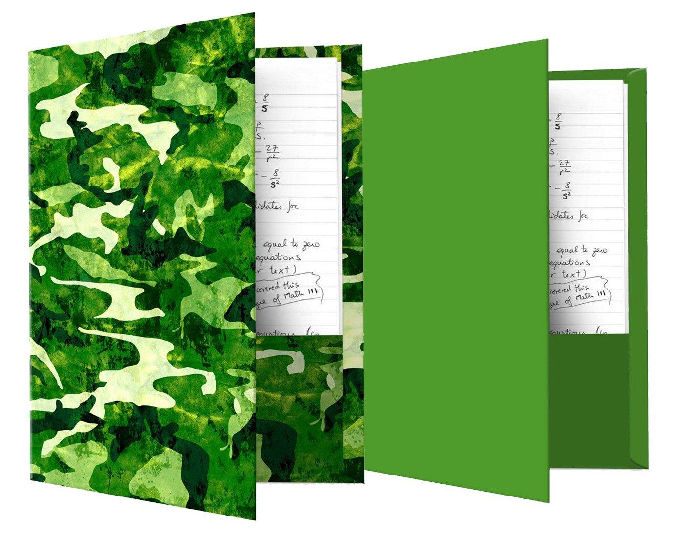 Book Soxフォルダ 2 Items 2 Items Green camo print and green solid B074KCSWF3