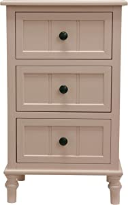 Décor Therapy Simplify Three Drawer Accent Table, 11.8x15.75x25, Rosie Mae