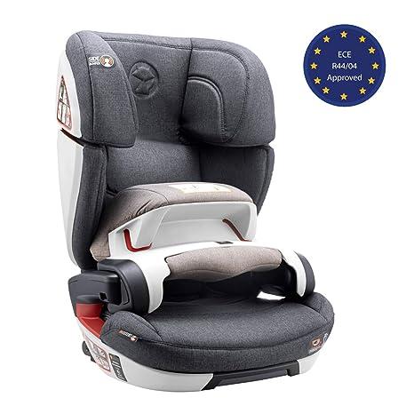 ⭐ Silla de Coche Grupo 1 2 3, Isofix con Escudo y Normativa ECE R44/04 (Seguridad Máxima para tu Bebé de 9-36 kg) - Silla de Coche 1 2 3 con Elevador ...
