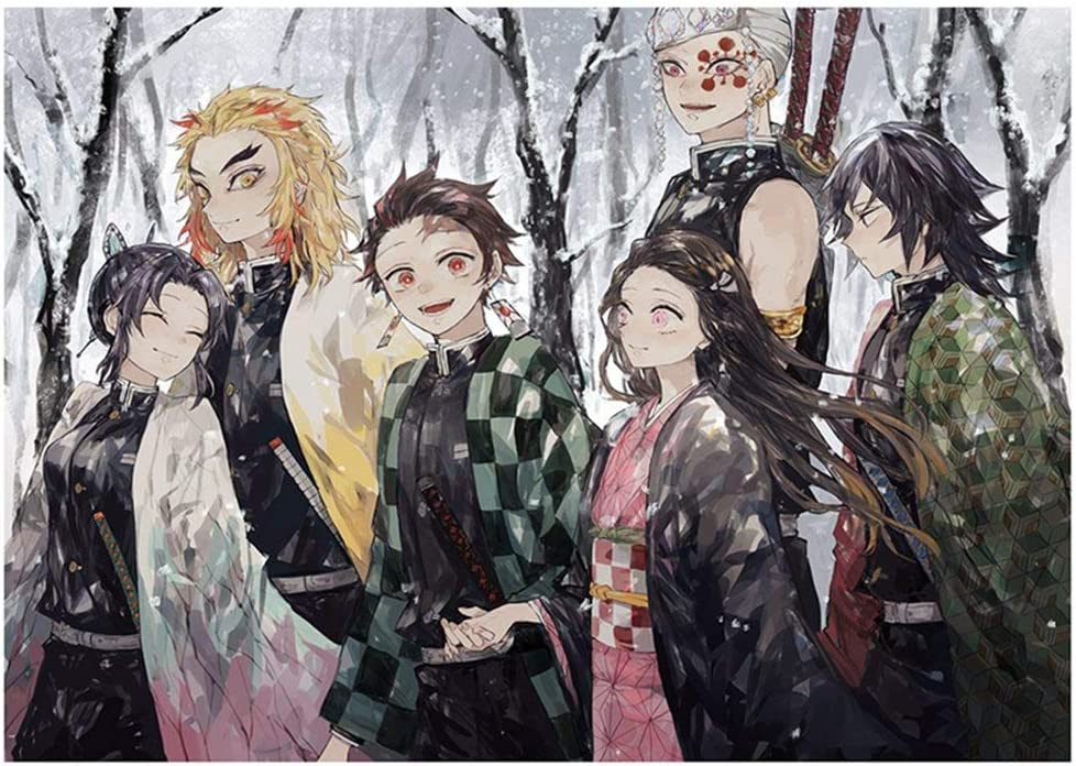 Style01 zhongjiany 8 Pieces Demon Slayer Kimetsu no Yaiba Polypropylene A3 Posters Wall Poster