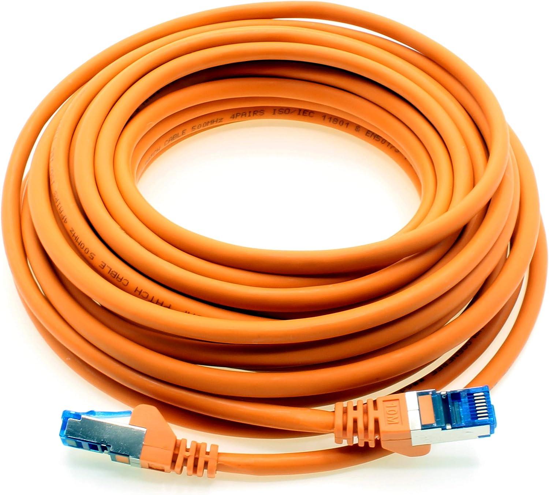 Cat.6 1.5m 1 Pieza Cable de Red Ethernet Gigabit LAN RJ45 Cat 6 A Cable de conexi/ón 10000 Mbit s Sftp Pimf 500 MHz Compatible con CAT5 CAT6 CAT7 Cat8 Naranja
