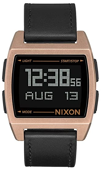 Reloj NIXON Base Leather Antique Copper A1181872 Hombre Oro rosa: Amazon.es: Relojes