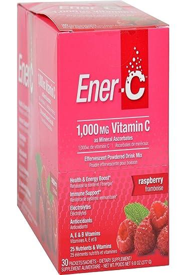Amazon.com: ener-c (frambuesa, 30 paquetes) Efervescente ...