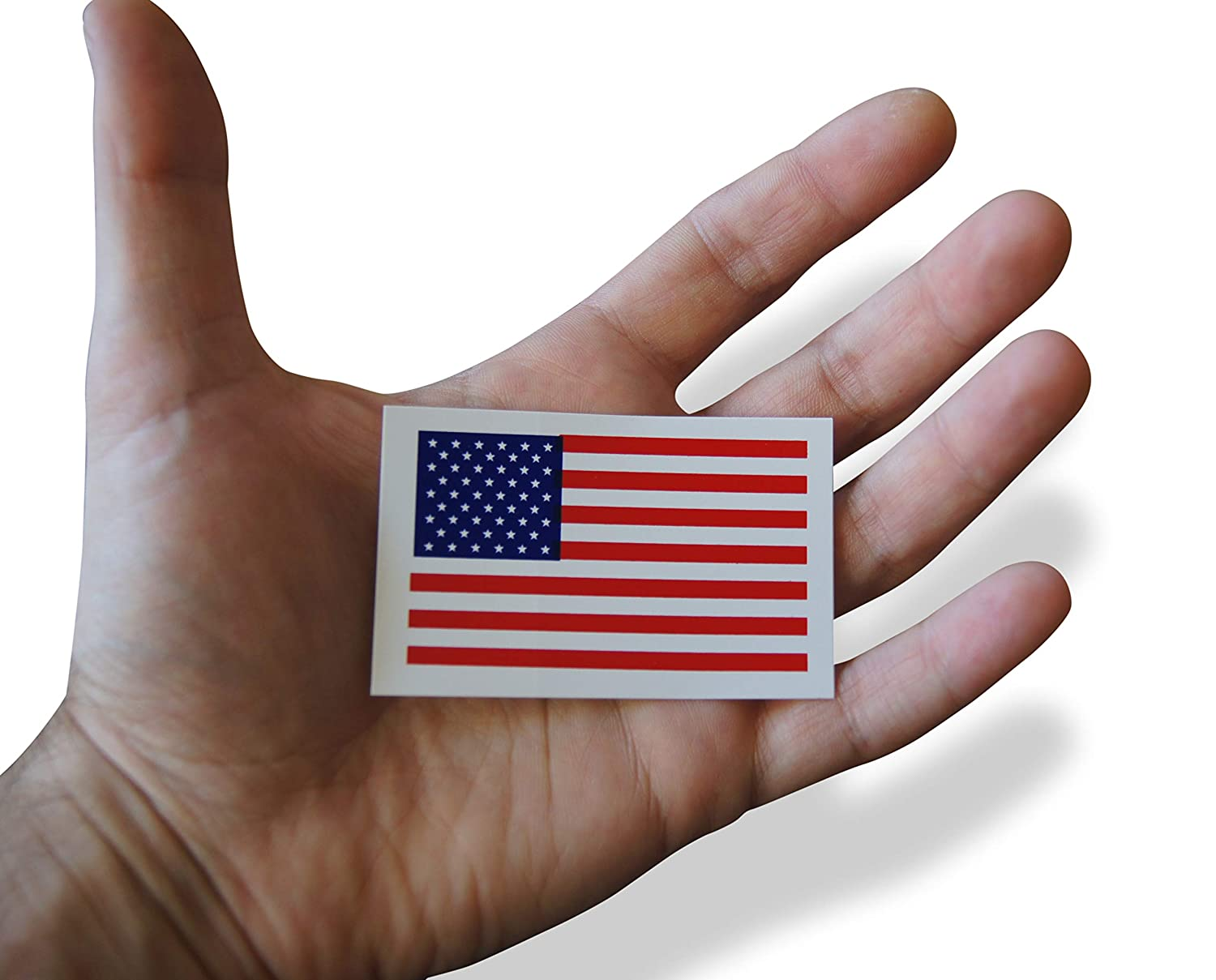 Oval /& American Flag Patriotic Military Vinyl Sticker Set Includes Circular Design in Classic Red 12 Pieces White Blue US Novel Merk U.S.A