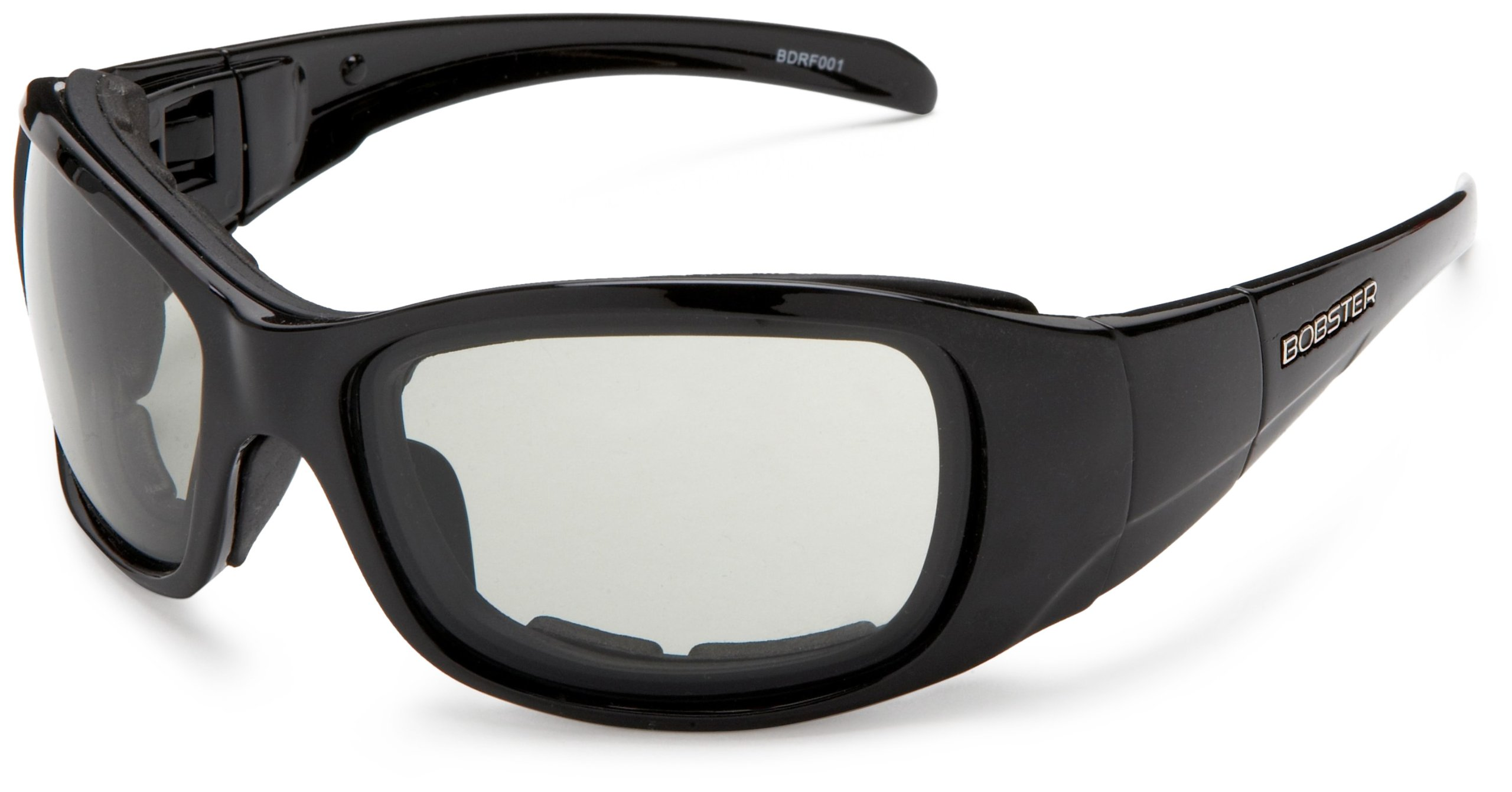 Bobster Drifter Oversized Sunglasses,Black Frame/Photochromic and Clear Lens,one size