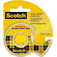 Scotch 665H1263 Double Sided Tape 12 mm x 6.3 m, Transparent Pack of 1
