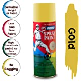ABRO SP-35 Multipurpose Colour Spray Paint Can for Cars and Bikes (Gold, 400ml)