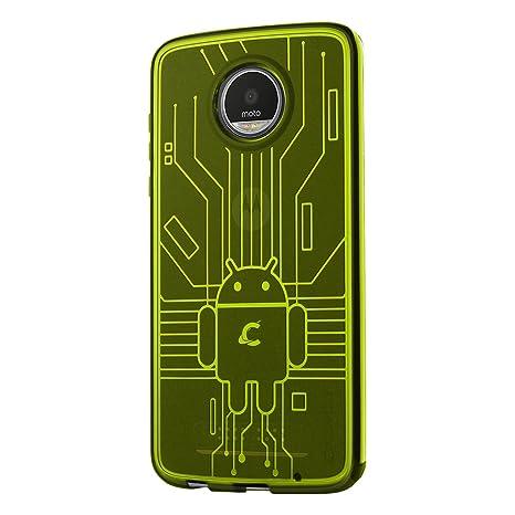 Cruzerlite Moto Z2 Play Caja, Bugdroid Circuit TPU Carcasa ...