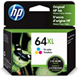 HP 64XL   Ink Cartridge   Tri-Color   Works with HP ENVY Photo 6200 Series, 7100 Series, 7800 Series, HP Tango and HP Tango X