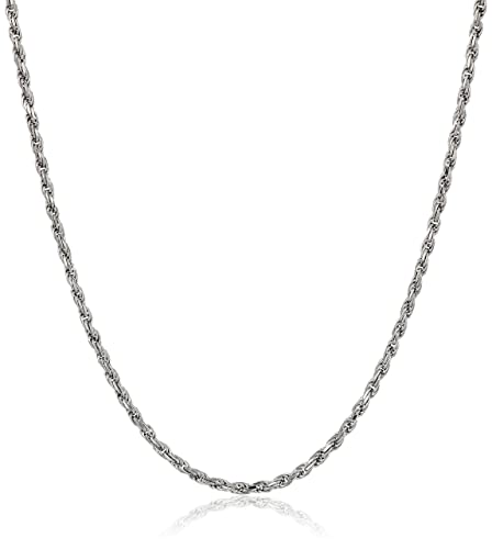 14k Gold 1mm Rope Chain Necklace