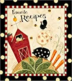 Recipe Binder Set with Plastic Page Protectors and Recipe Cards, Fresh is Good