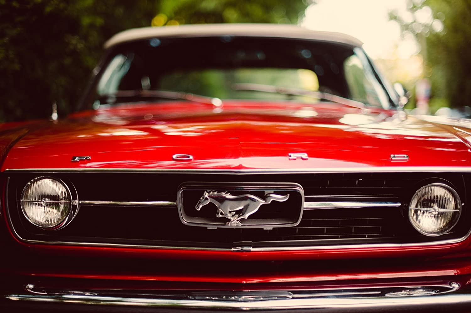 Inspired Walls Ford Mustang Vintage Car Poster géant – A5 A4 A3 A2 A1 A0 Tailles Inspired Walls®