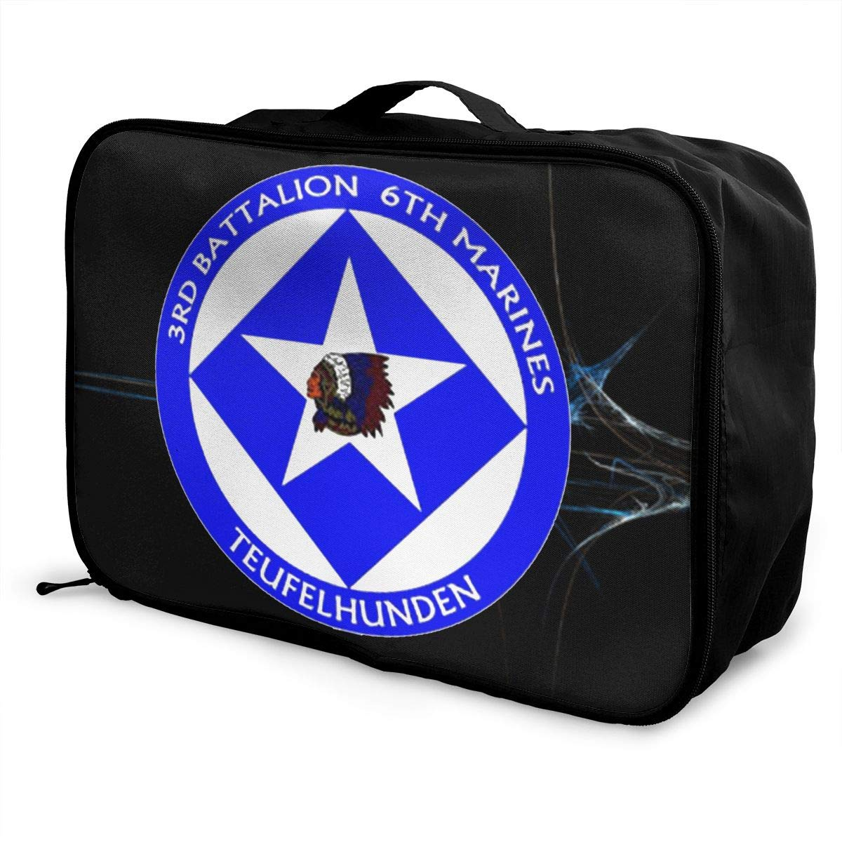 Unisex Travel Duffel Bag Waterproof Fashion Lightweight Large Capacity Portable Luggage Bag 3rd Battalion 6th Marines