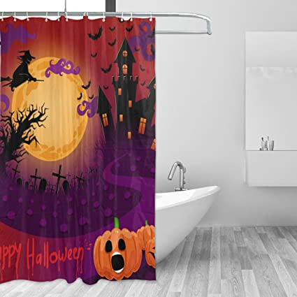 Image Unavailable Not Available For Color LORVIES Happy Halloween Shower Curtain Set