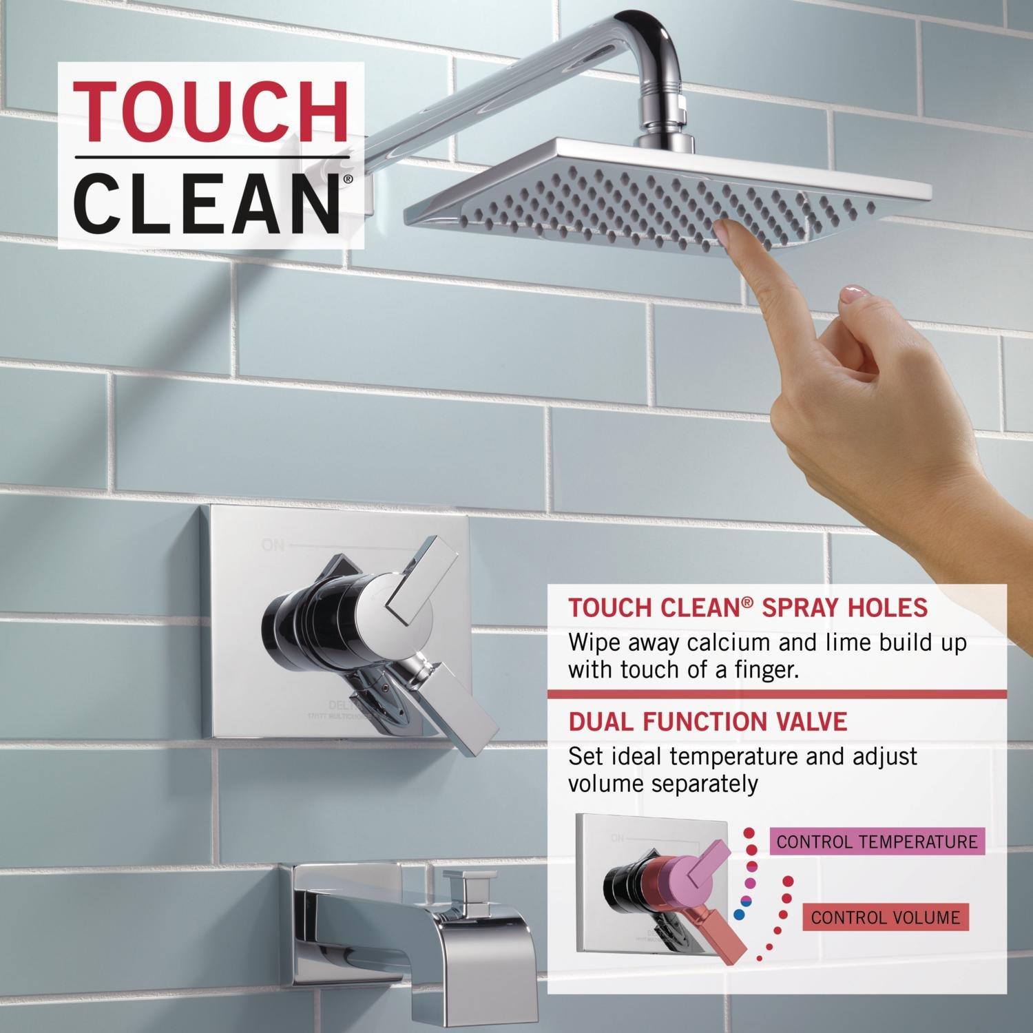 Delta Vero 17 Series Dual-Function Tub and Shower Trim Kit with ...