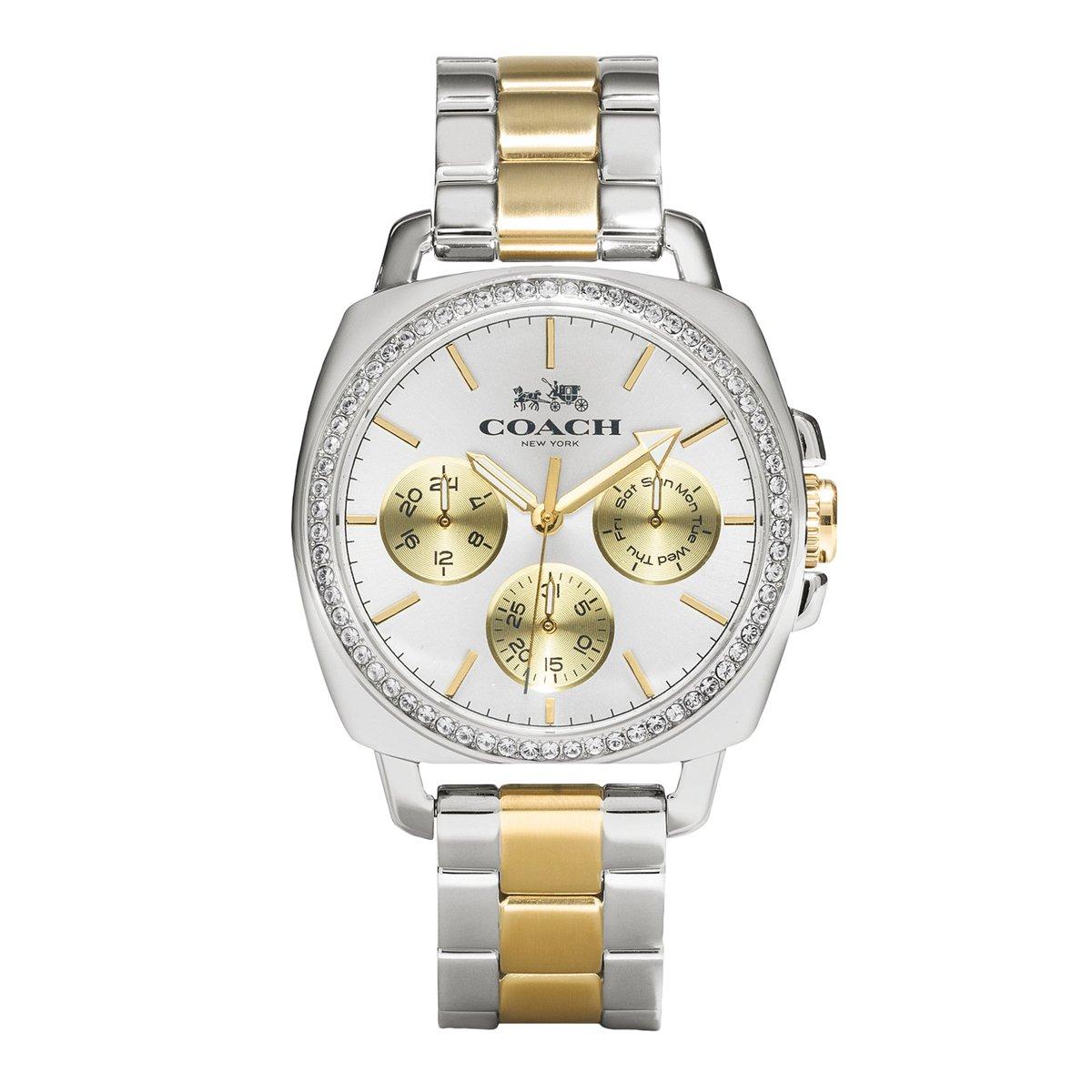 Amazon.com: Coach novio de la mujer 40 mm pulsera reloj dos ...