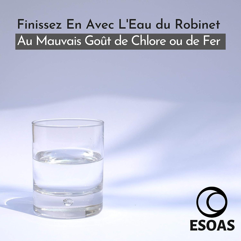 Perle Cerámico EM – Lote de 25 tubos de pipas microorganismos eficientes de arcilla natural, kit de filtración de agua del grifo para 2 botellas de cristal, jarras, botellas, hervidores, depósito de