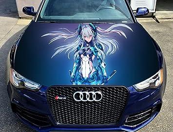 car hood wrap  Amazon.com: Full Color Sticker, Anime Car Hood Vinyl Sticker, Car ...