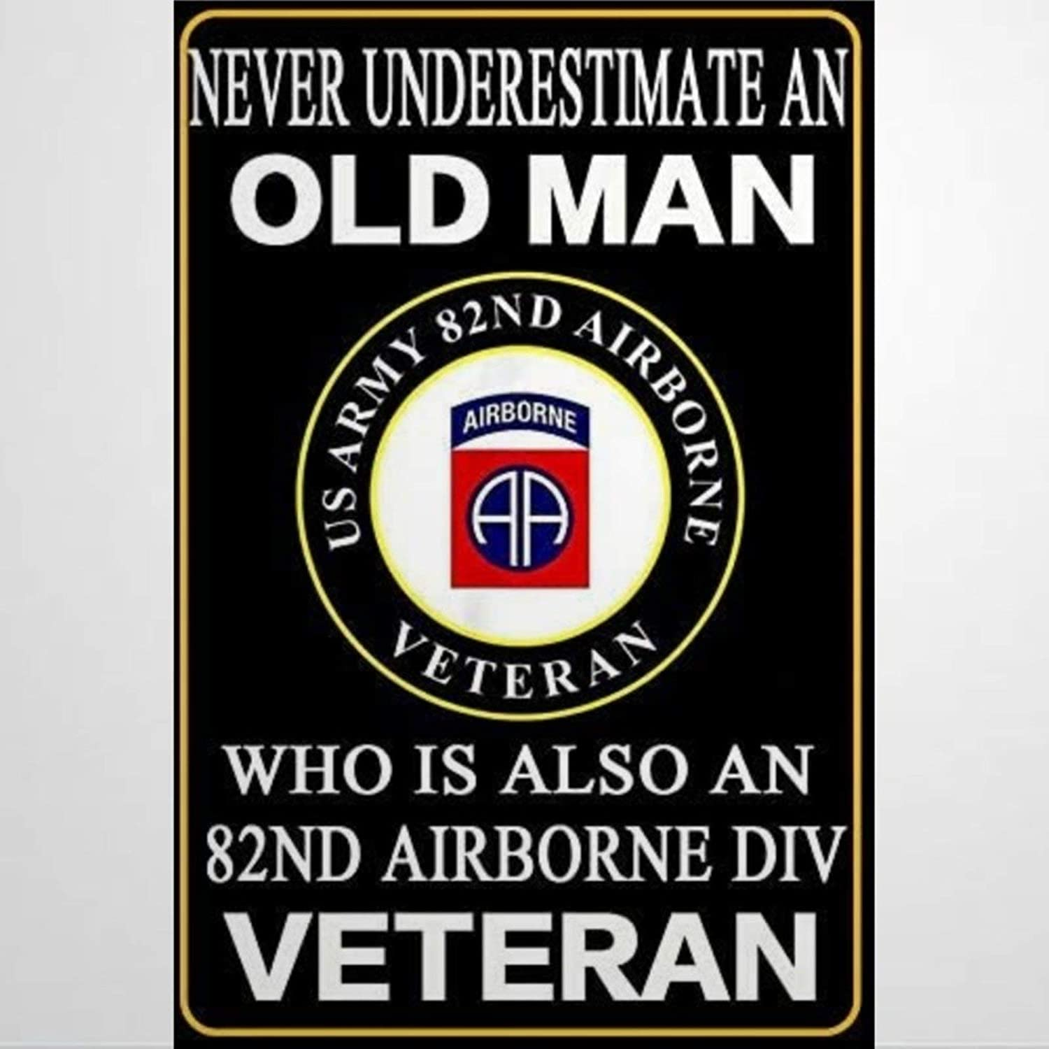 BYRON HOYLE 82nd Airborne Division Metal Sign,Vintage Tin Plaque,Yard Sign Wall Hanging Art,Rustic Wall Decor for Home Garage Coffee Bar Pub Farmhouse Living Room