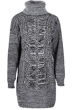 72d19213e31 Fashion Star - Robe - Pull - Femme   Taille Unique - Gris - 36 ...