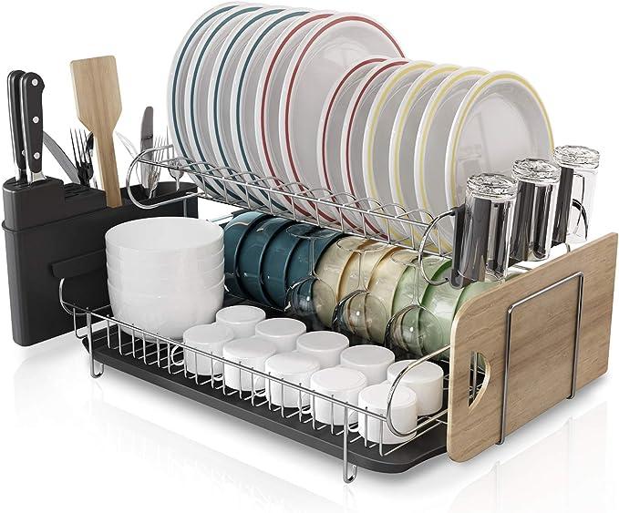Boosiny 厨房双层不锈钢碗架