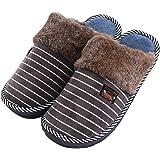 Erwachsene Plüsch Hausschuhe, Winter Wärme Indoor Pantoffeln, Großer Home Rutschfeste Weiche Leicht Baumwolle Slippers für Herren