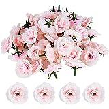 JNCH 50pcs Rose Artificielle Capitules Tete Fleur Faux Plante Artificielle Decoration pour Maison Mariage Fête