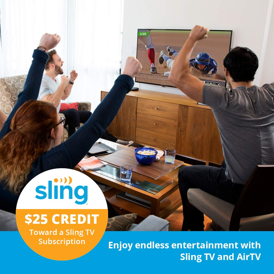 DVR Capable Built for Sling TV AirTV Dual-tuner Local Channel Streamer for TVs and Mobile Devices