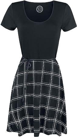 Kurzes kleid schwarz weiß