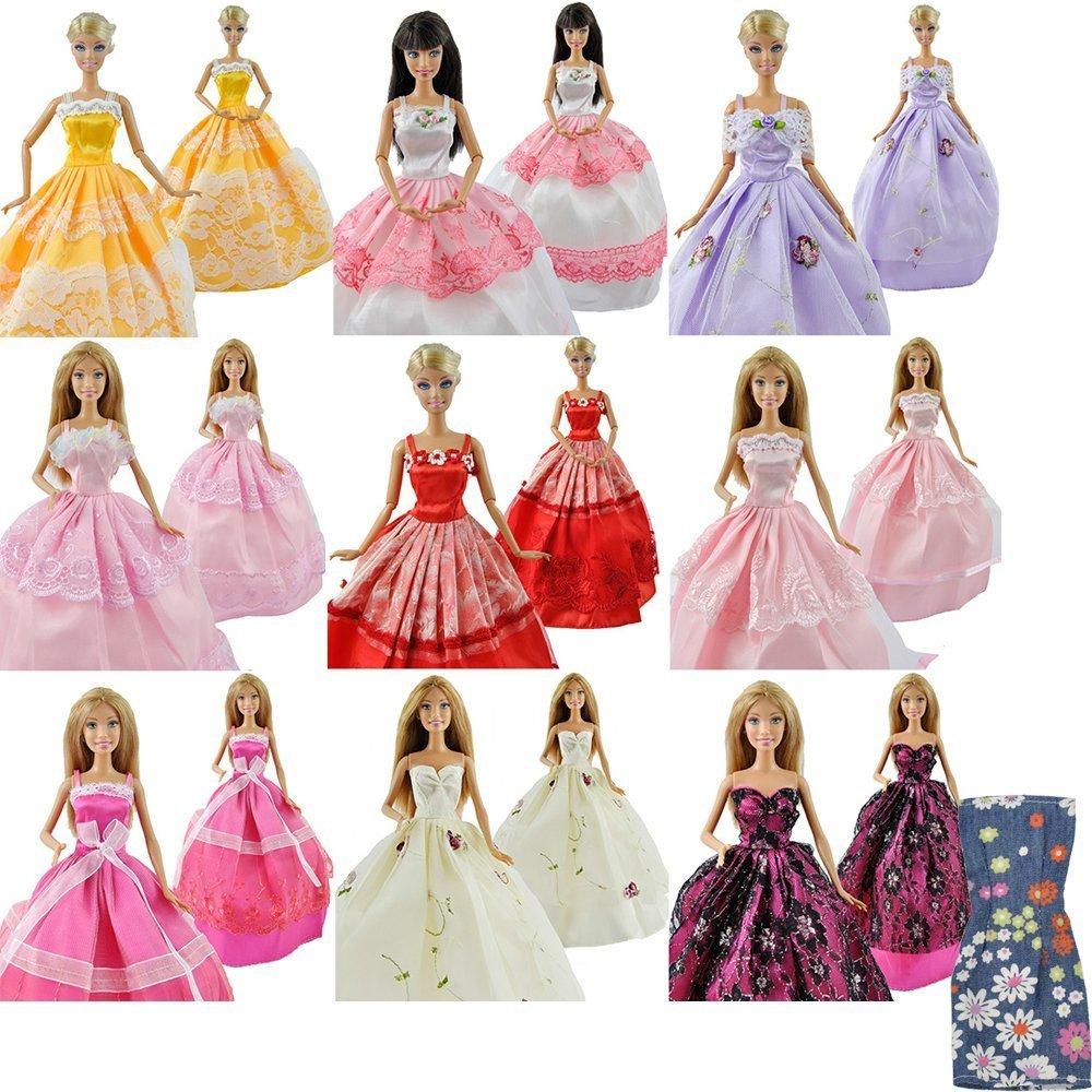 E-TING 5St. Fashionistas Hochzeit Kleidung Prinzessinnen Kleider Für Barbie Puppe