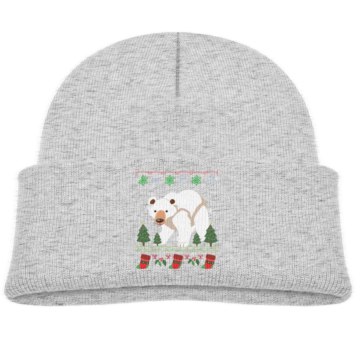 Polar Bear Christmas Beanie Hat Baby Boys