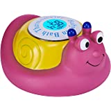 Babylian Floating Snail Toy Bath Thermometer for Baby Bathing Water Temperature Measure, Safety & Happy Bathing (purple)