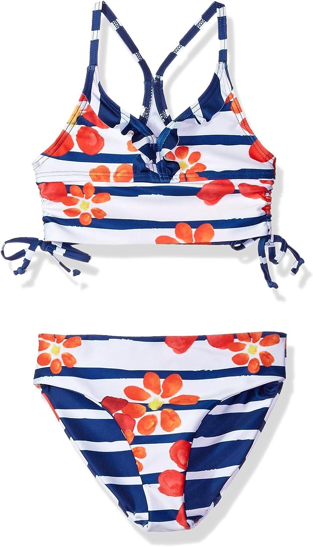 Jantzen Little Girl Nautical Anchor Print Bikini with Ruffle