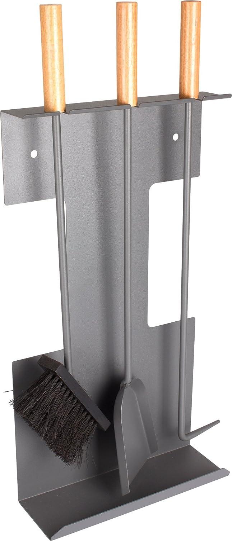 3-teilig Karlisle Valiant Premium Kaminbesteck zur Wandmontage