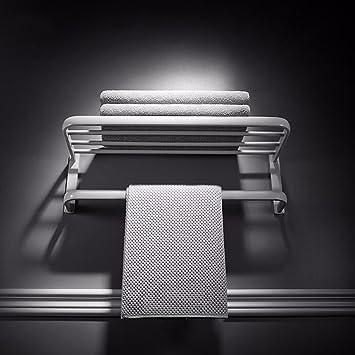 SJQKA Estante de Toalla Nordic Blanco Lleno de Cobre Toalla Rack Rack Europea Moderna Toalla de baño Traje de baño Percha Colgador de Pared Marco de ...