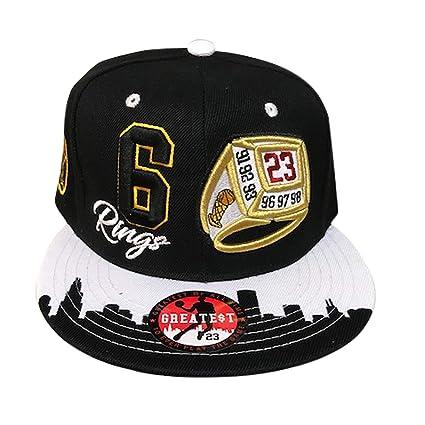 d91cd4e13af GREATEST 23 Chicago Jordan Bulls Colors 6 Rings Era Snapback Hat Cap (Black  White
