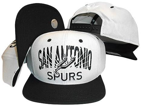 9ac9c2a3de7 Image Unavailable. Image not available for. Color  San Antonio Spurs Grey  Black Two Tone Adjustable Snapback Hat Cap