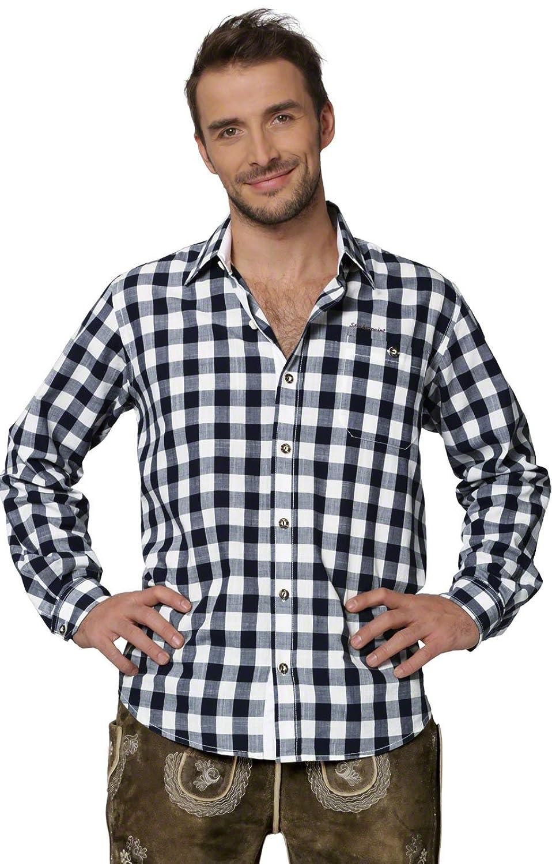 Stockerpoint Trachtenhemd karo sportiv - Dean - blau