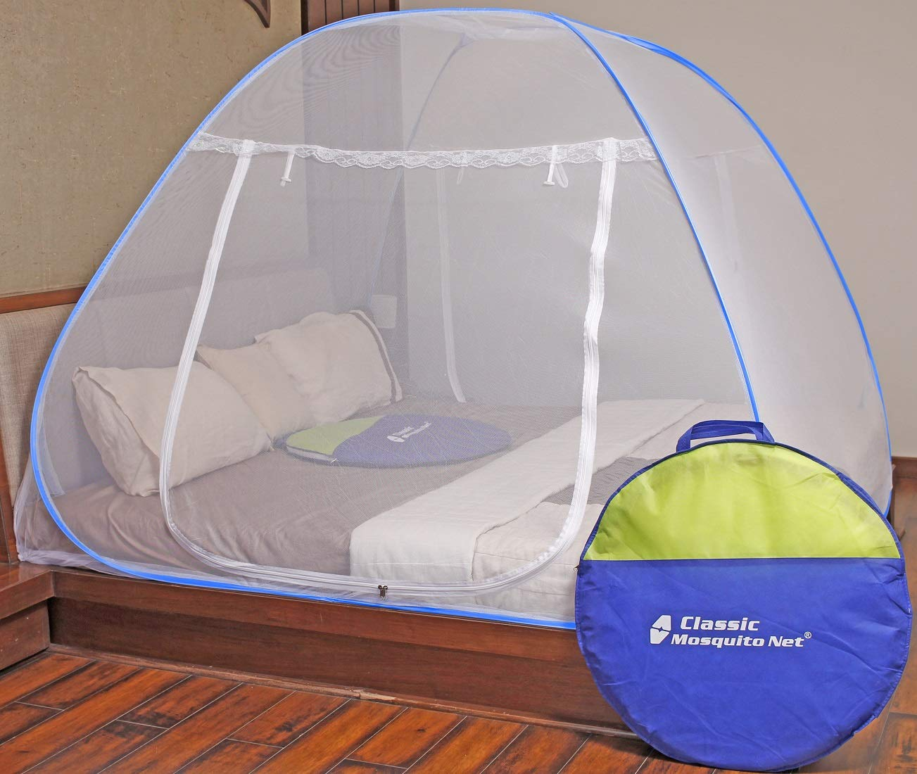 Classic Mosquito Net Foldable King Size (Double Bed) With Saviours