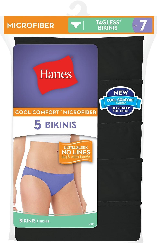 Hanes Microfiber w//Lace CHEEKY Underwear-7-Choose Color-Tagless