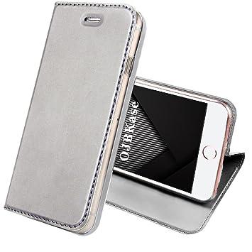 OJBKase Funda iPhone 5/5S/SE, Piel sintética Billetera Carcasa Protectora Cartera y Funda Cubierta Interior TPU Protección De Cuerpo Case para Apple ...