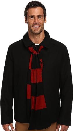 Amazon.com: Izod Mens Wool Blend Coat & Scarf Set Pea Coat: Clothing