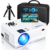 """Native 1080P Projector with WiFi and Two-Way Bluetooth, Full HD Movie Projector for Outdoor Movies, 300"""" Display Projector 4k"""