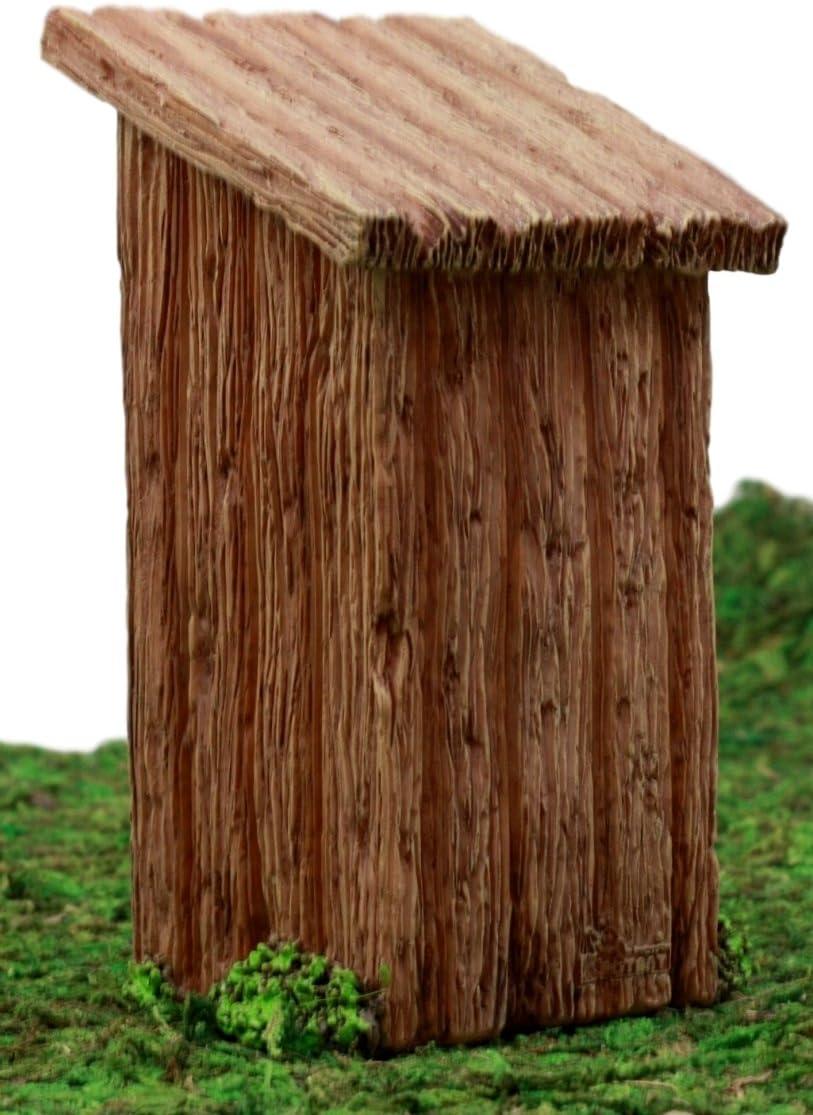 "3.25/"" x 2.15/"" x 1.85/"" Miniature Fairy Garden Miniature Wooden Outhouse"