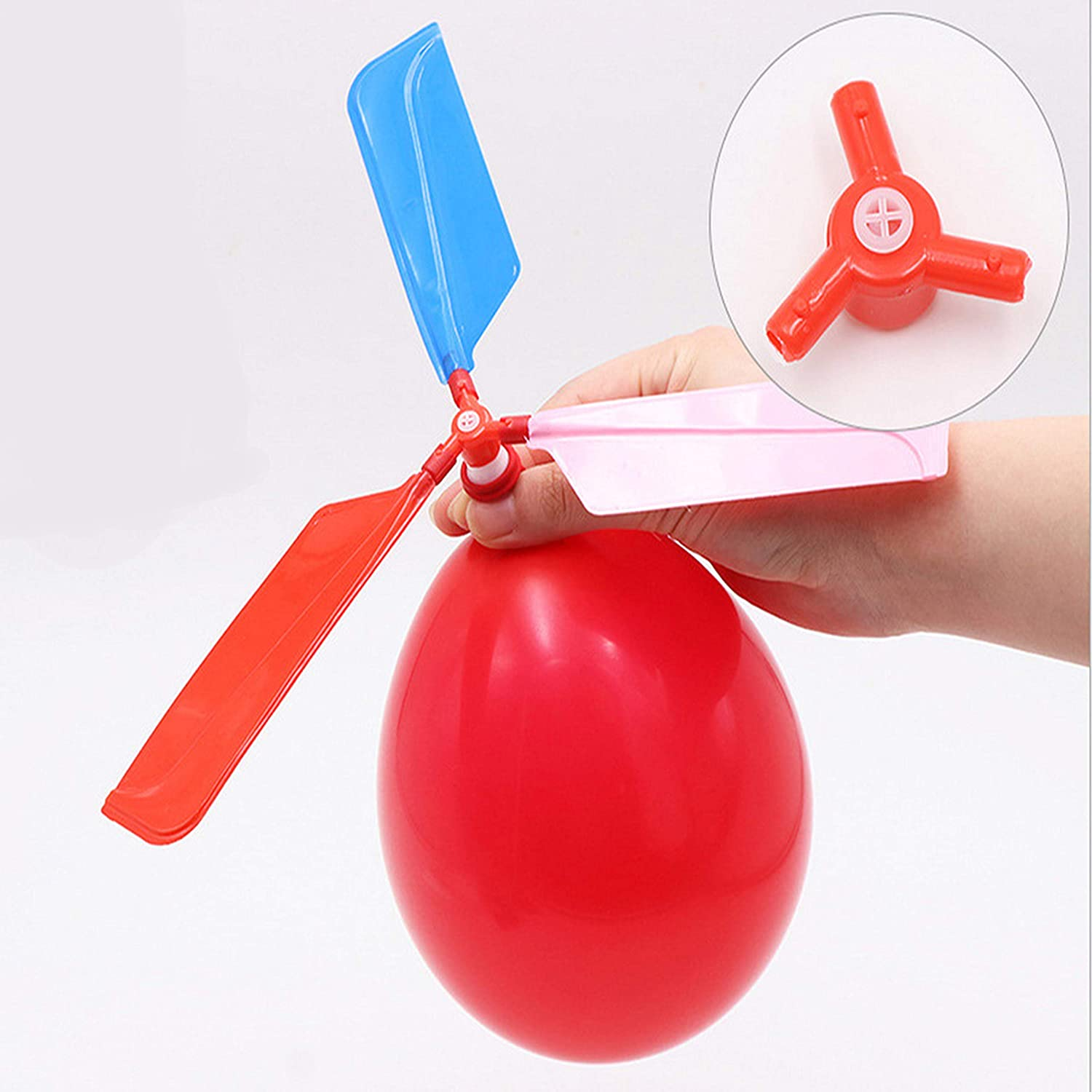 10X Childrens Kids Balloon Helicopter Flying Kit Party Bag Filler Flying Toyyu
